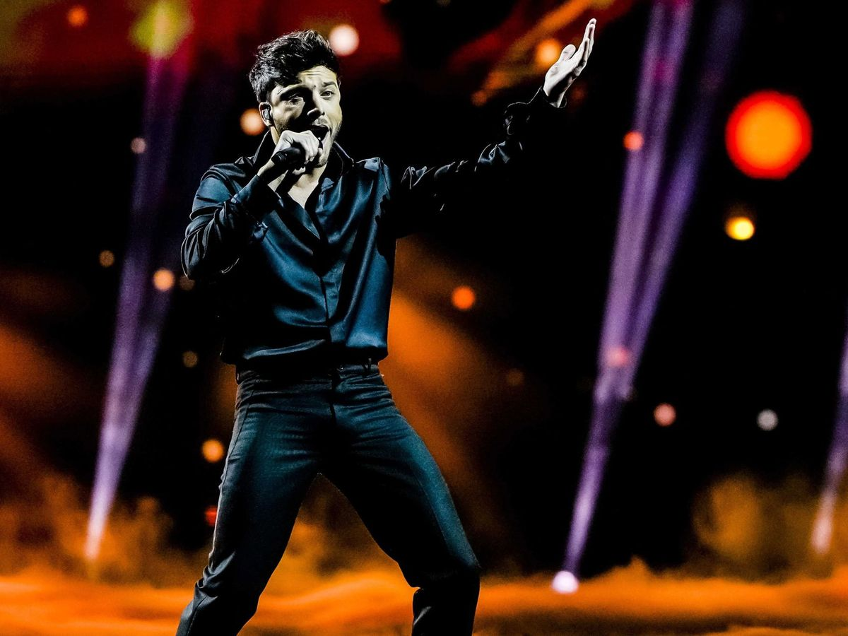Foto: Blas Cantó, en la final de Eurovisión 2021. (Agencia EFE)