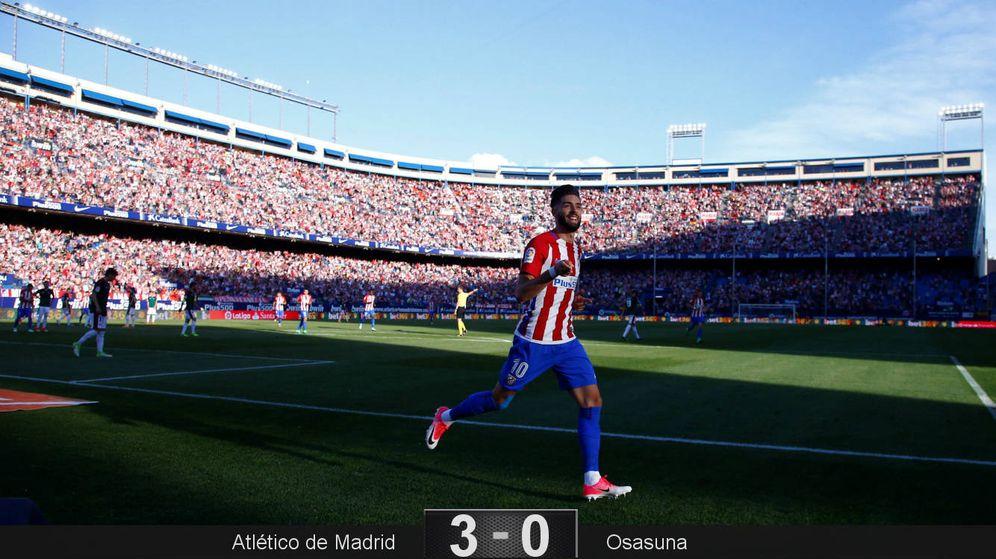 Foto: El belga Carrasco firmó un doblete que allanó el camino del fácil triunfo del Atlético de Madrid ante Osasuna. (Reuters)