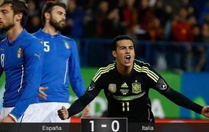 Una España más veloz gana a Italia, pero le sigue costando marcar goles