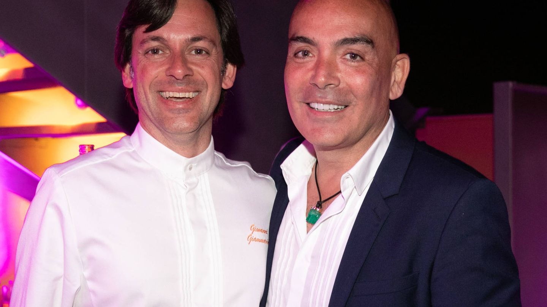 El empresario, con el chef Giovanni Giammarino.