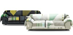 Post de 'Vlinder': Hella Jongerius viste de 'jacquard' el nuevo sofá de Vitra