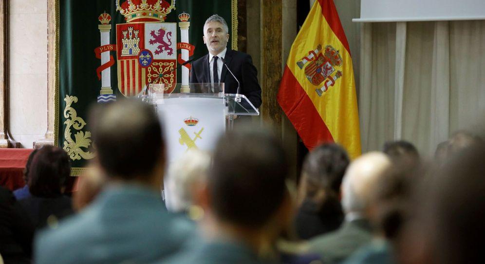 Foto: El ministro de Interior en funciones, Fernando Grande-Marlaska, durante la presentación del calendario solidario de la Guardia Civil 2020. (EFE)