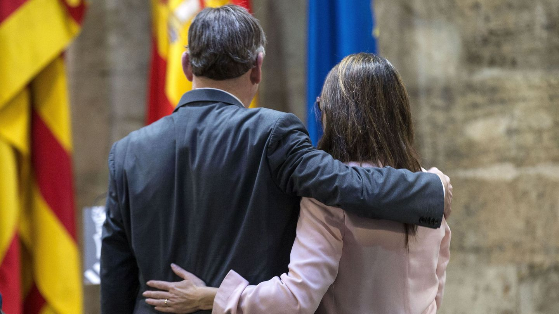 Puig y Oltra, este miércoles en el acto de presentación del anteproyecto de Ley de Memoria Democrática. (EFE)