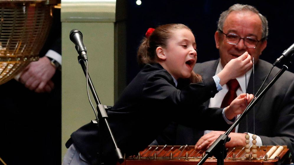 Foto: Aya, la niña de la Lotería Nacional famosa por sus cánticos.