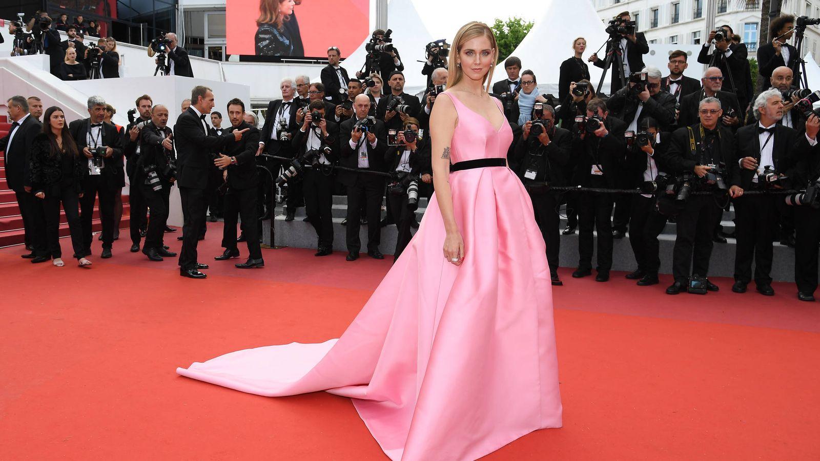 Foto: Chiara Ferragni a su llegada a la presentación de la película 'Le Grand Bain' en el Festival de Cannes. (Getty)