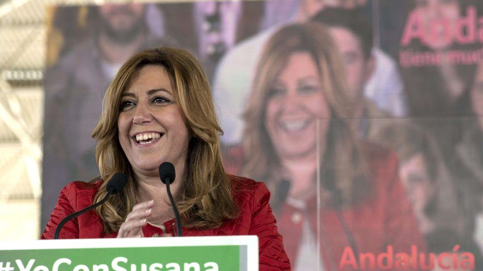 Foto: Susana Díaz, en el  acto de campaña de ayer en Jaén de las elecciones andaluzas. (Efe)