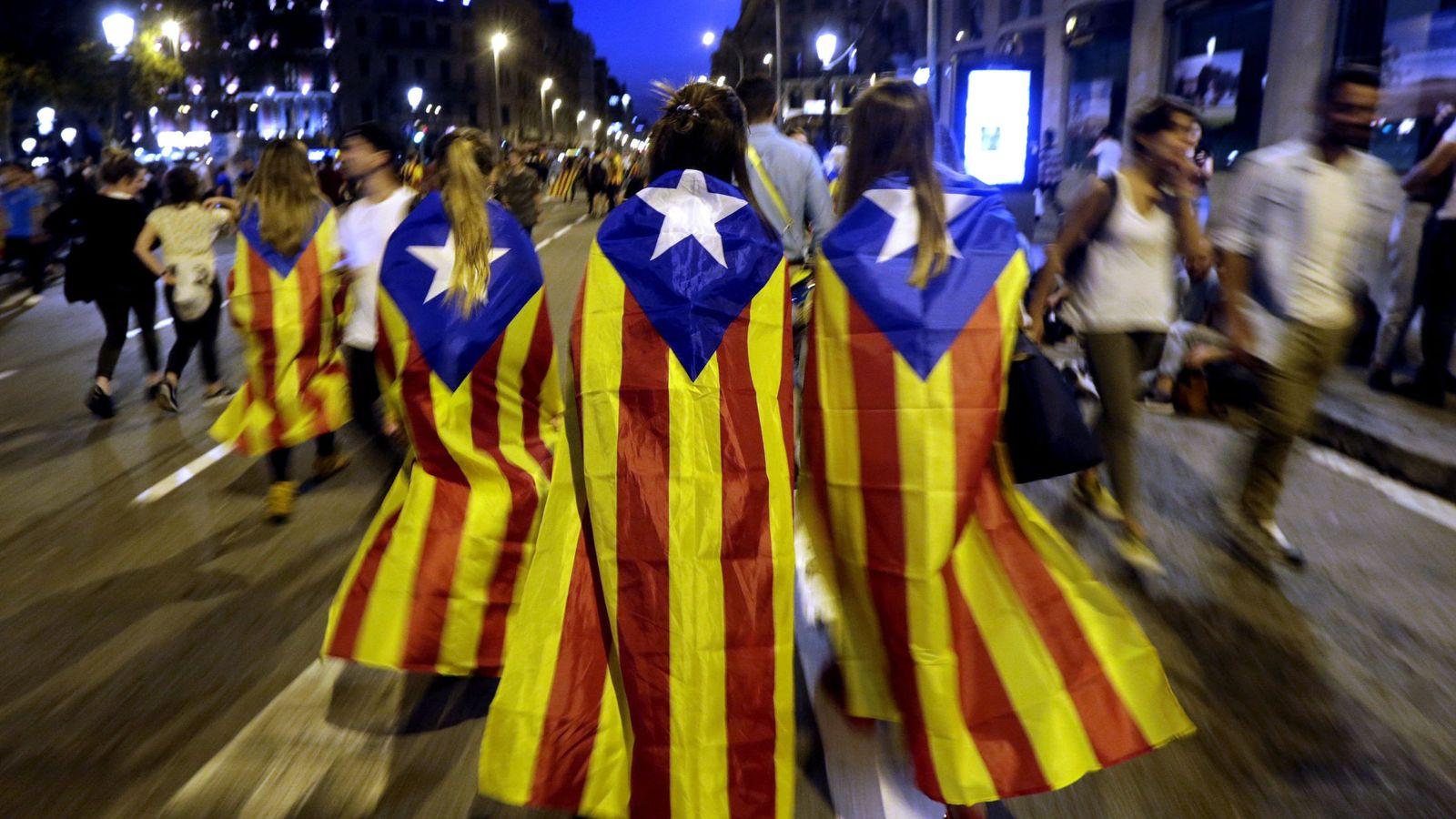 Foto: Foto de archivo de una manifestación independentista.