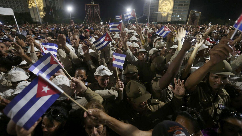 Despedida a Fidel Castro en la plaza de la Revolución de La Habana, en noviembre de 2016. (Reuters)