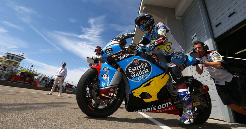 Foto: Álex Márquez, durante un Gran Premio de la temporada recién acabada (Estrella Galicia)