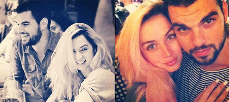 Foto: David Victori y Ana de Armas en dos imágenes de Instagram
