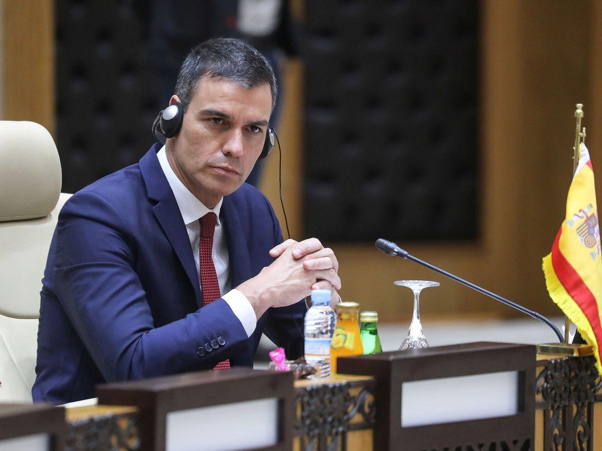 Foto: El presidente del Gobierno, Pedro Sánchez, durante la cumbre del G5. (Reuters)