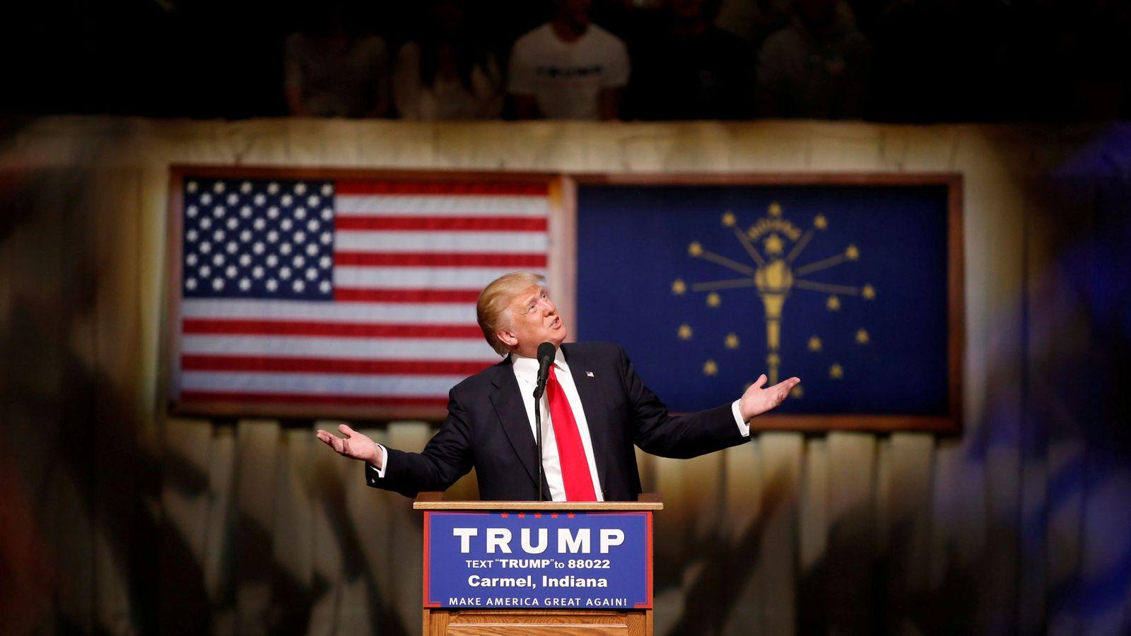Foto: Donald Trump, durante un acto de campaña en Indiana, el 2 de mayo de 2016 (Reuters)