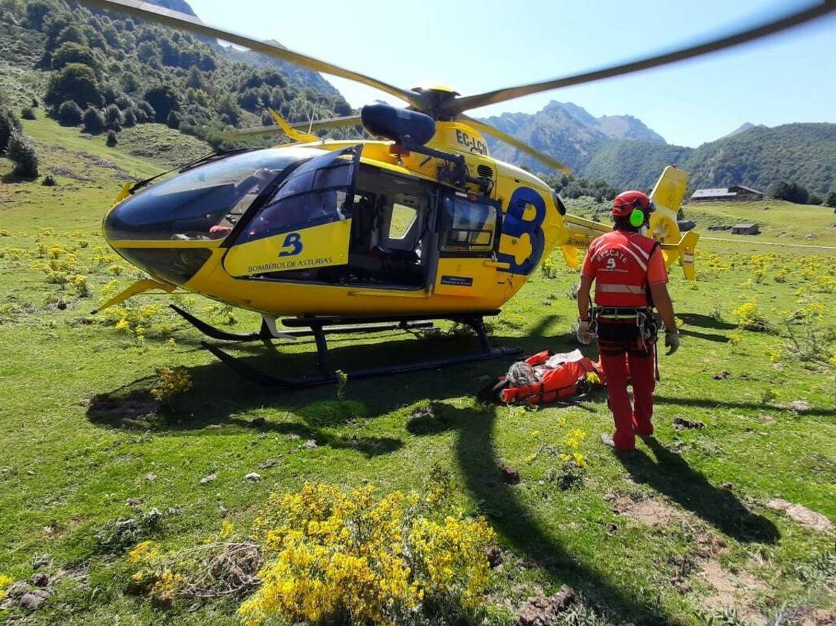 Foto: Equipo de rescate del SEPA. (112 Asturias)