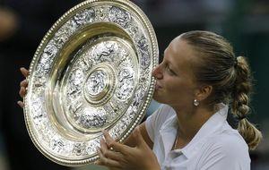 Contra viento y Bouchard: Kvitova logra la gloria en menos de una hora