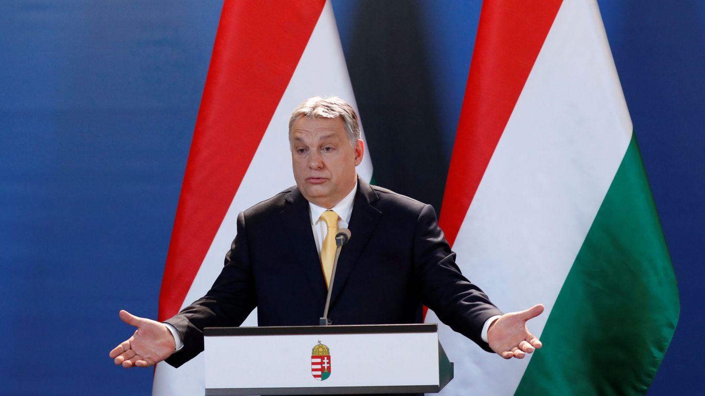 Víktor Orbán en una rueda de prensa en Budapest, el 10 de abril de 2018. (Reuters)