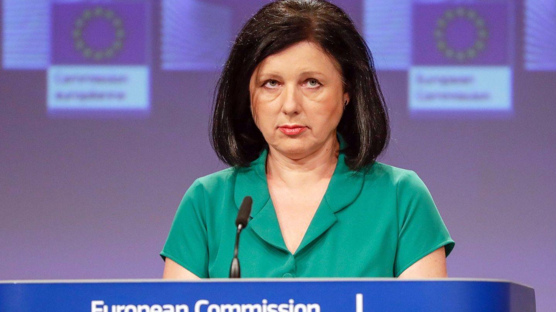 La comisaria europea de Justicia, Vera Jourova. (Reuters)