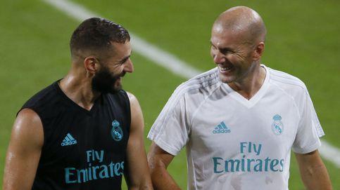 Zidane mima a Benzema y Cristiano Ronaldo le blinda... no como la directiva