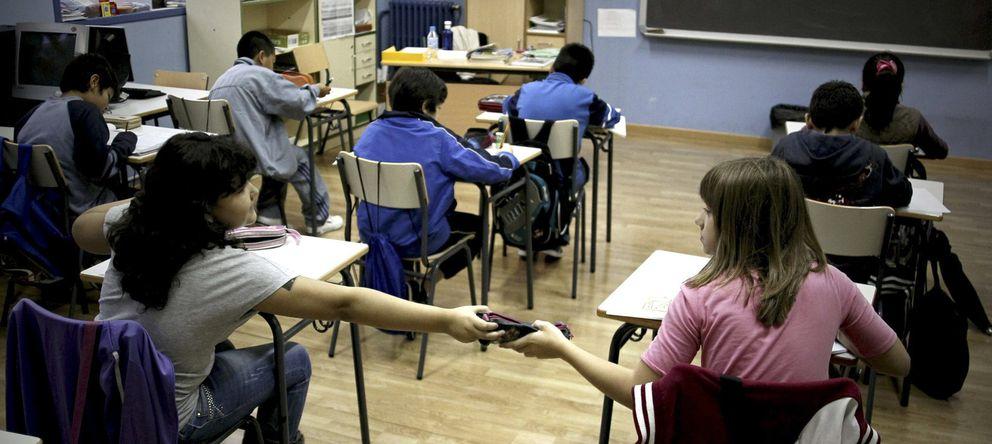 Foto: Vista de una de las aulas del Colegio público Palacio Valdés de Madrid. (Efe)