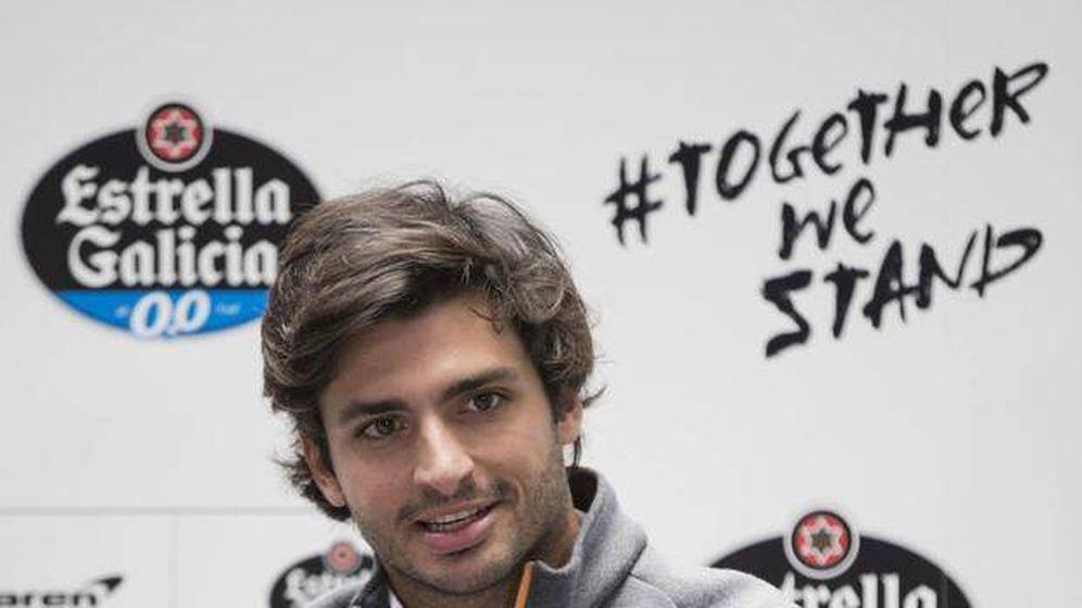 Foto: Carlos Sainz durante un evento de su patrocinador personal y de McLaren (Estrella Galicia)