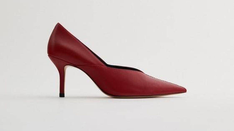 Zapatos de tacón de Zara. (Cortesía)