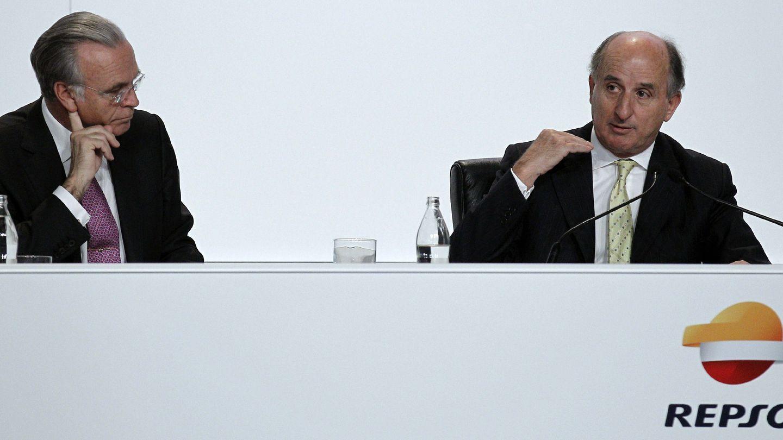 Los presidentes de La Caixa y Repsol. (EFE)