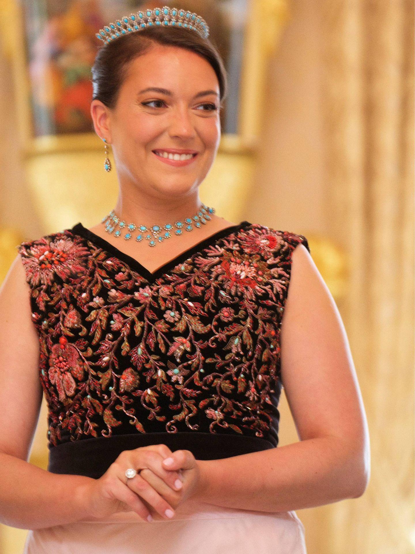 Alexandra de Luxemburgo con un vestido de su madre. (CP)