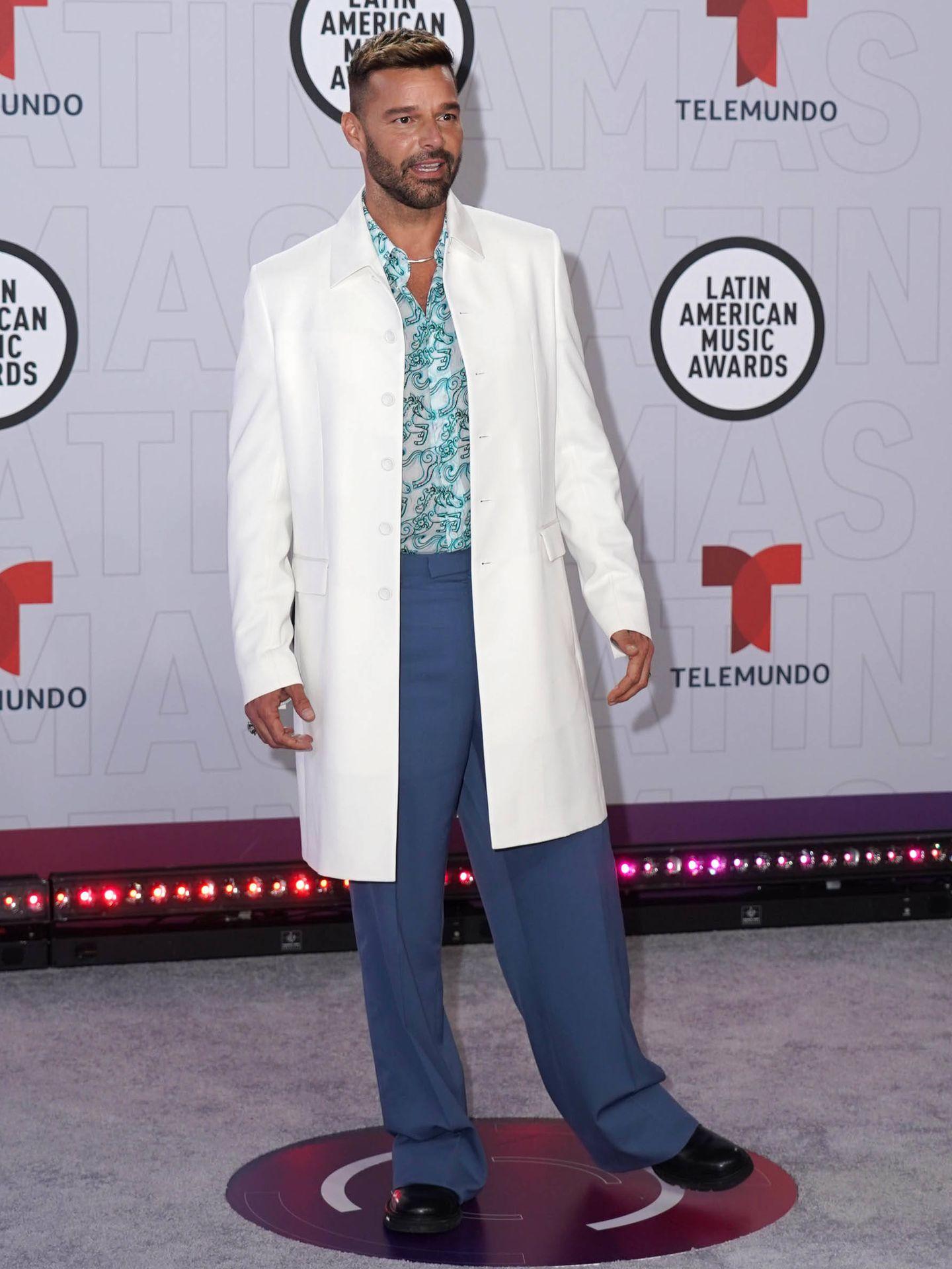 Ricky Martin, vestido de Dior. (Getty)
