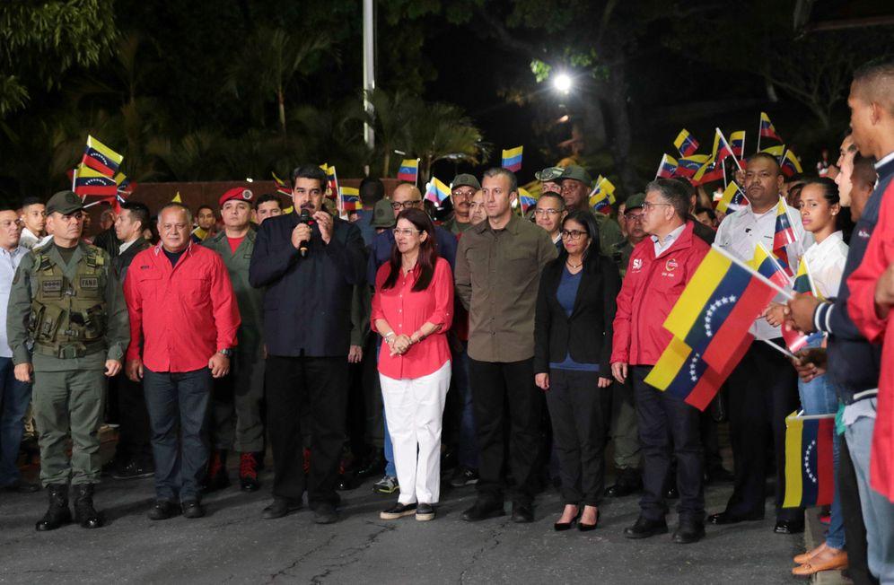 Foto: El presidente de Venezuela, Nicolás Maduro, tras conocer los resultados electorales, en Caracas. (Reuters)