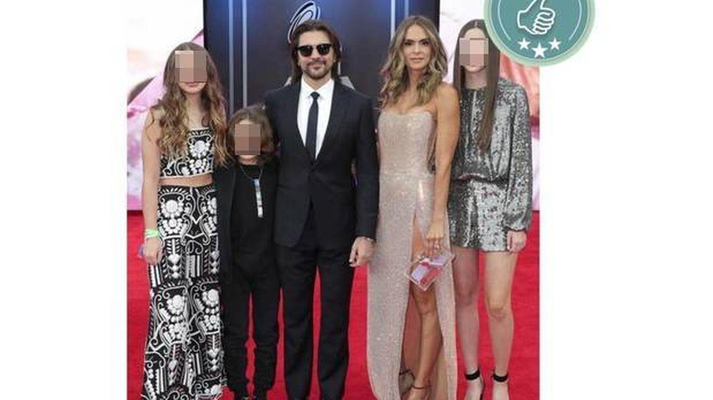 Juanes y familia (Getty Images)