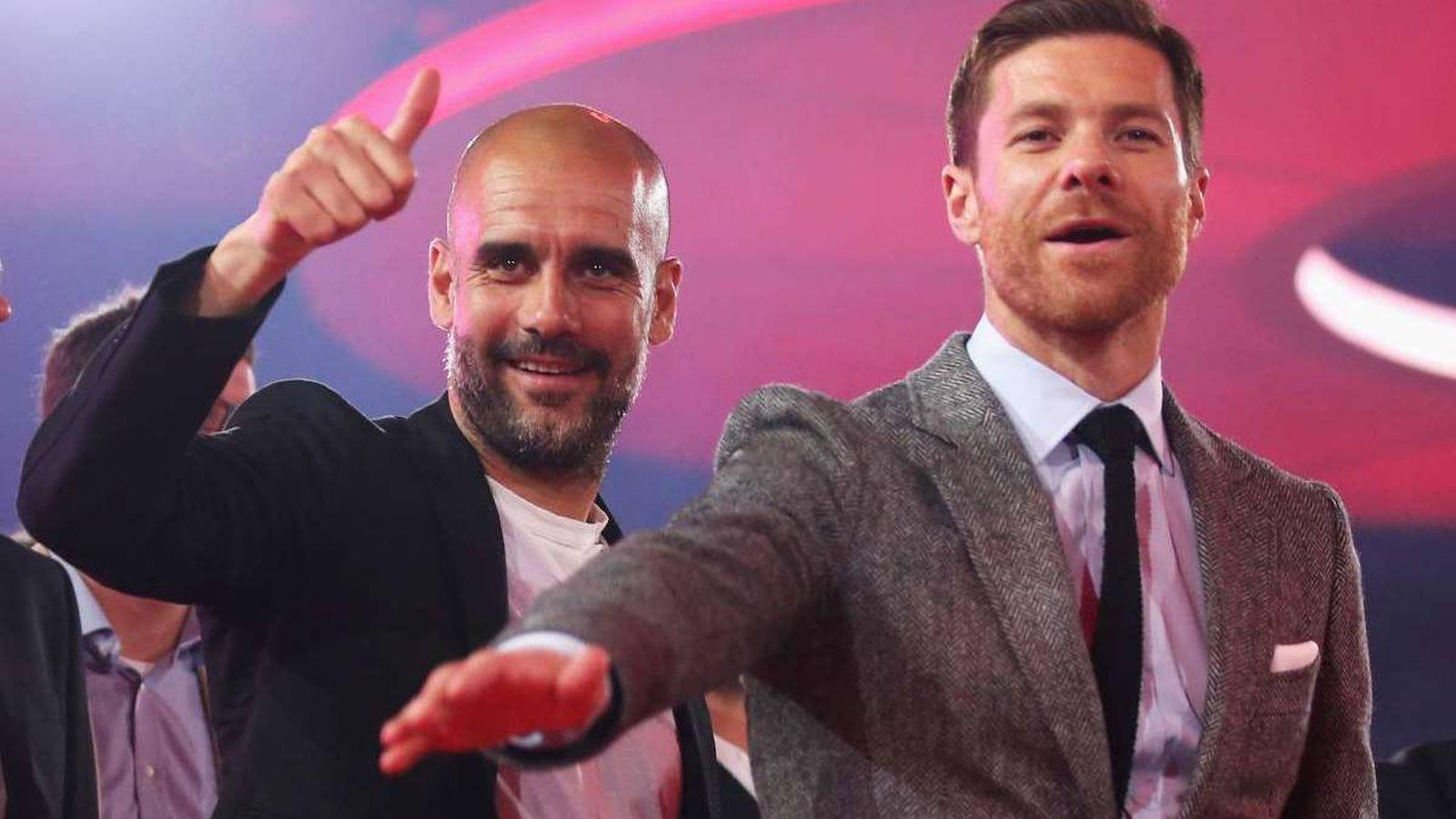 Foto: Pep Guardiola y Xabi Alonso, durante su etapa en el Bayern de Múnich. (Reuters)