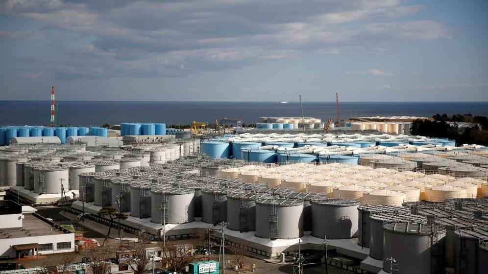 Foto: Almacenamiento de agua radiactiva en TEPCO (Reuters)