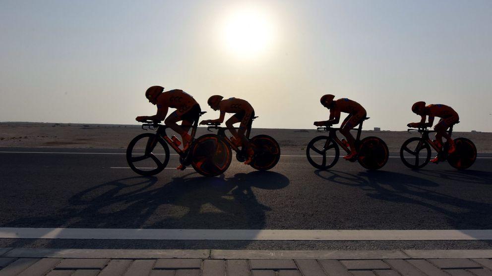 Qatar no es un país para bicicletas, sino para carreras de camellos majestuosas