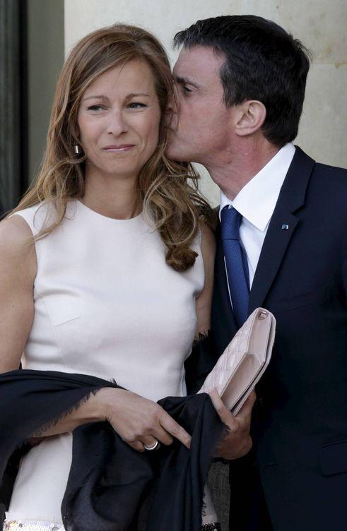 Foto: Manuel Valls y su exmujer, Anne Gravoin. (Reuters)
