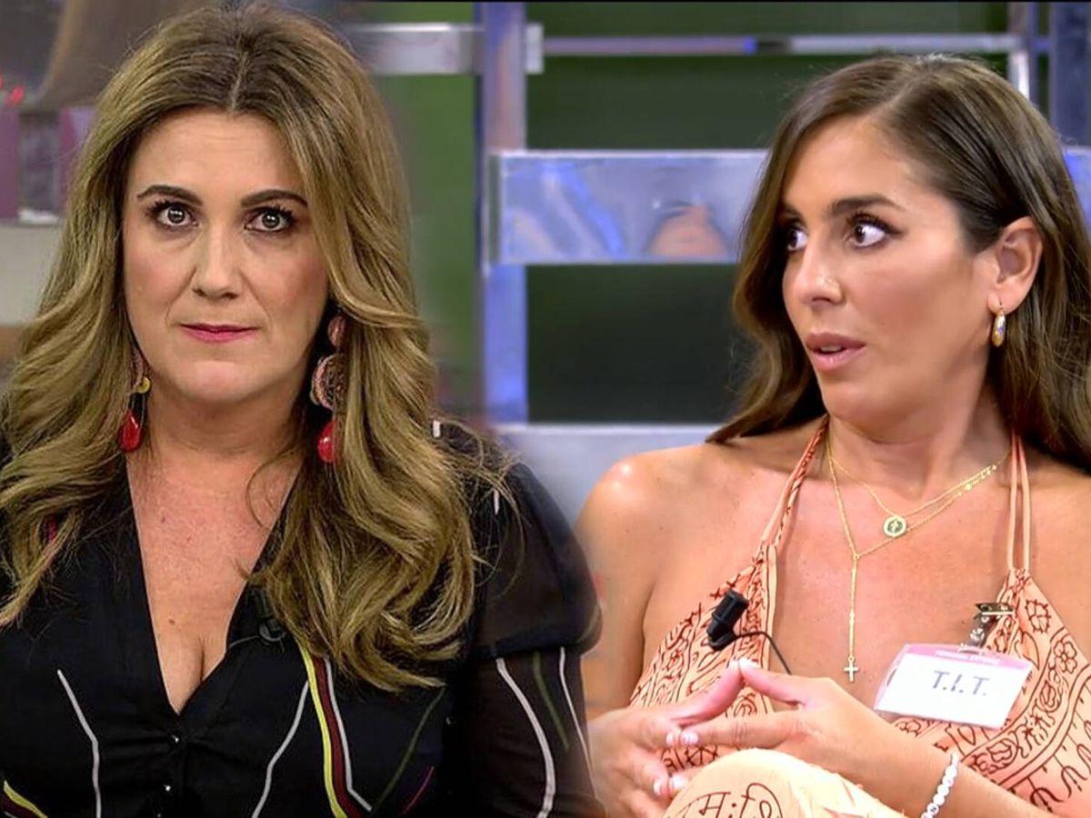 Foto: Anabel Pantoja y Carlota Corredera, en 'Sálvame'. (Telecinco)