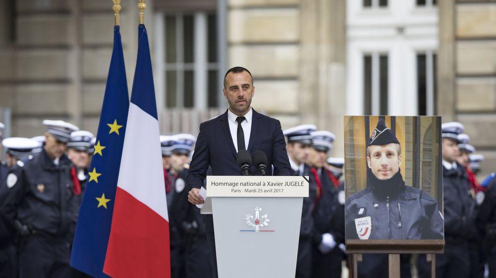 Foto: Etienne Cardiles, durante su discurso (Efe)