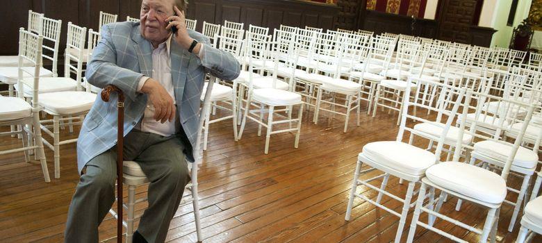 Foto: El magnate Sheldon Adelson, en Toledo. (EFE)