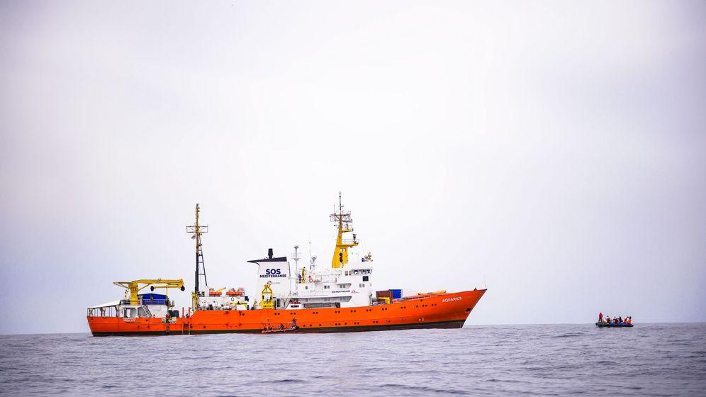 Foto: El barco Aquarius de la ONG francesa SOS Méditerranée. (EFE)