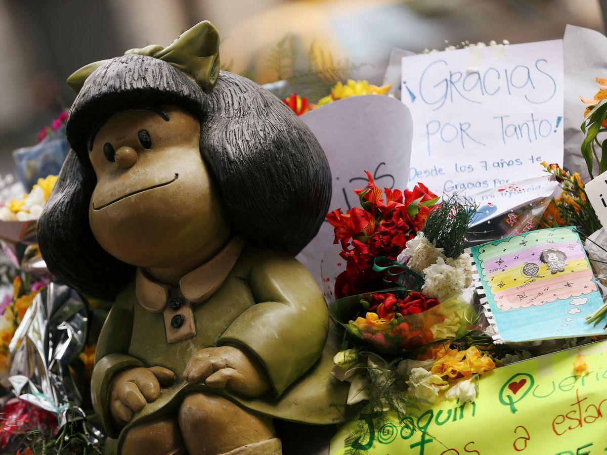 Foto: Tributo a Quino. (Reuters)