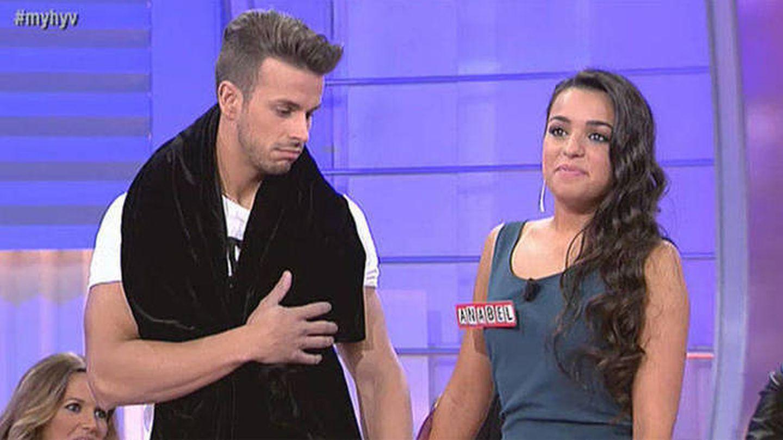 Cristian y Anabel, en 'Mujeres y hombres y viceversa'. (Mediaset)