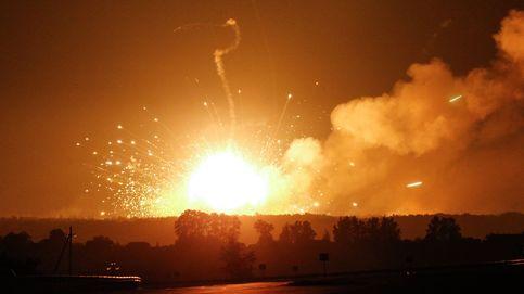 10.000 evacuados por la explosión en un polvorín en el norte de Ucrania