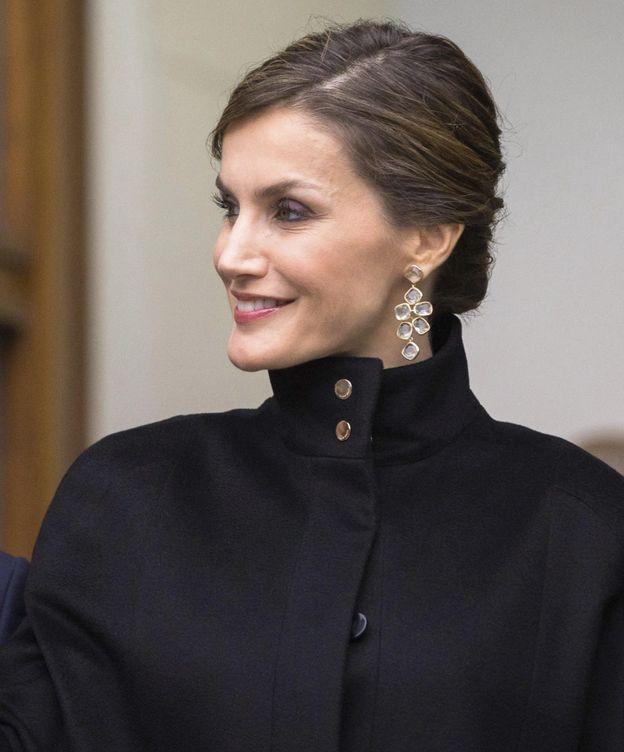 Foto: La Reina, a su llegada a la exposición de Zurbarán (Efe)