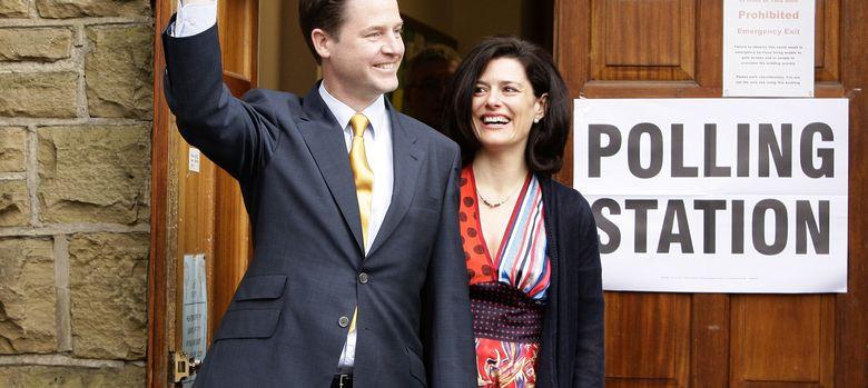 Foto: Miriam González Durántez y Nick Clegg en mayo de 2010. (I.C.)