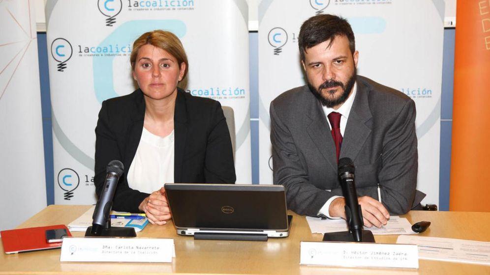 Foto: Carlota Navarrete, directora de la Coalición, y Héctor Jiménez, coordinador del estudio de la consultora GfK (Foto: Coalición de Creadores)