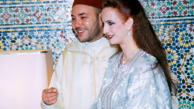 Lalla y Mohamed, el día de su boda en 2002. (Getty)