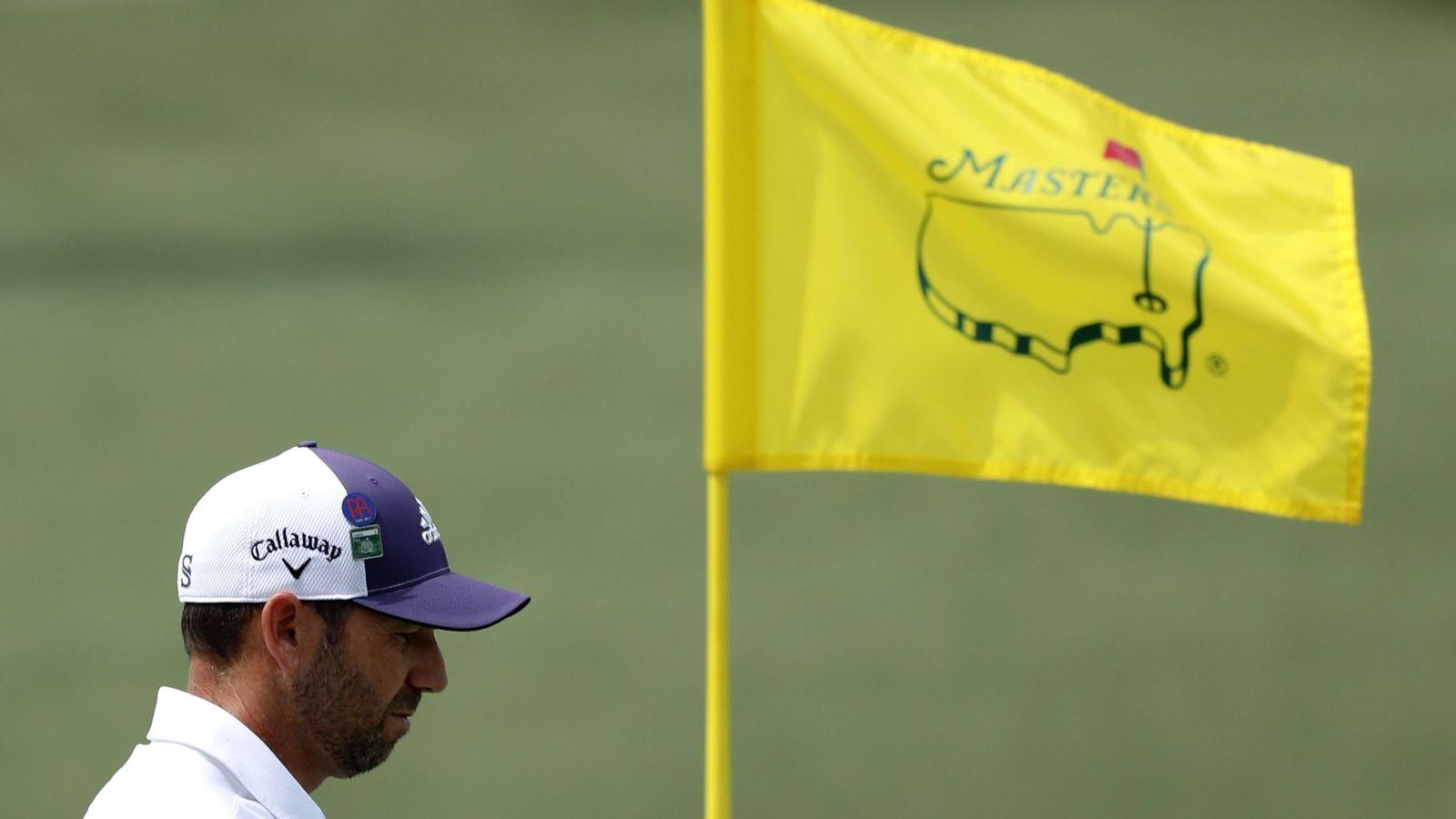 Foto: Sergio García, esta semana en el hoyo 7 de Augusta. (Reuters)