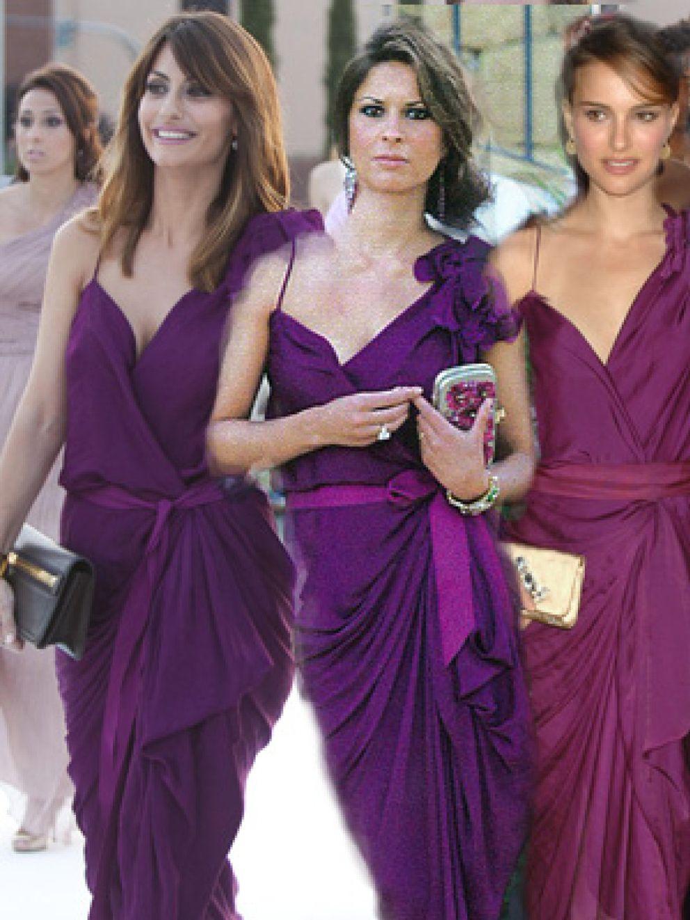 Foto: Elena Cué le copia el vestido a la mujer de Xabi Alonso y a Natalie Portman