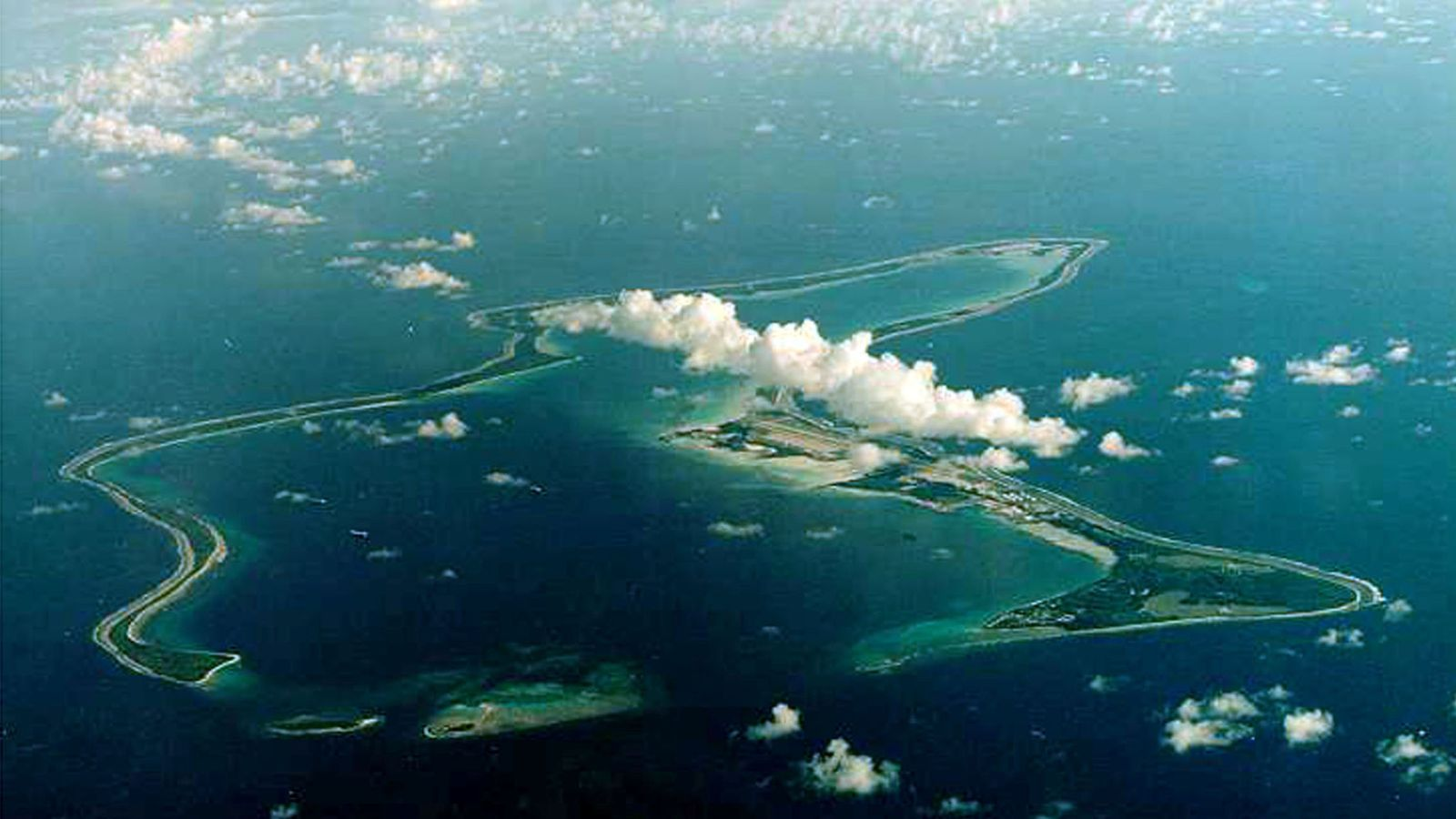 Foto: El atalón Diego García, el más grande del archipiélago de Chagos. (Reuters)