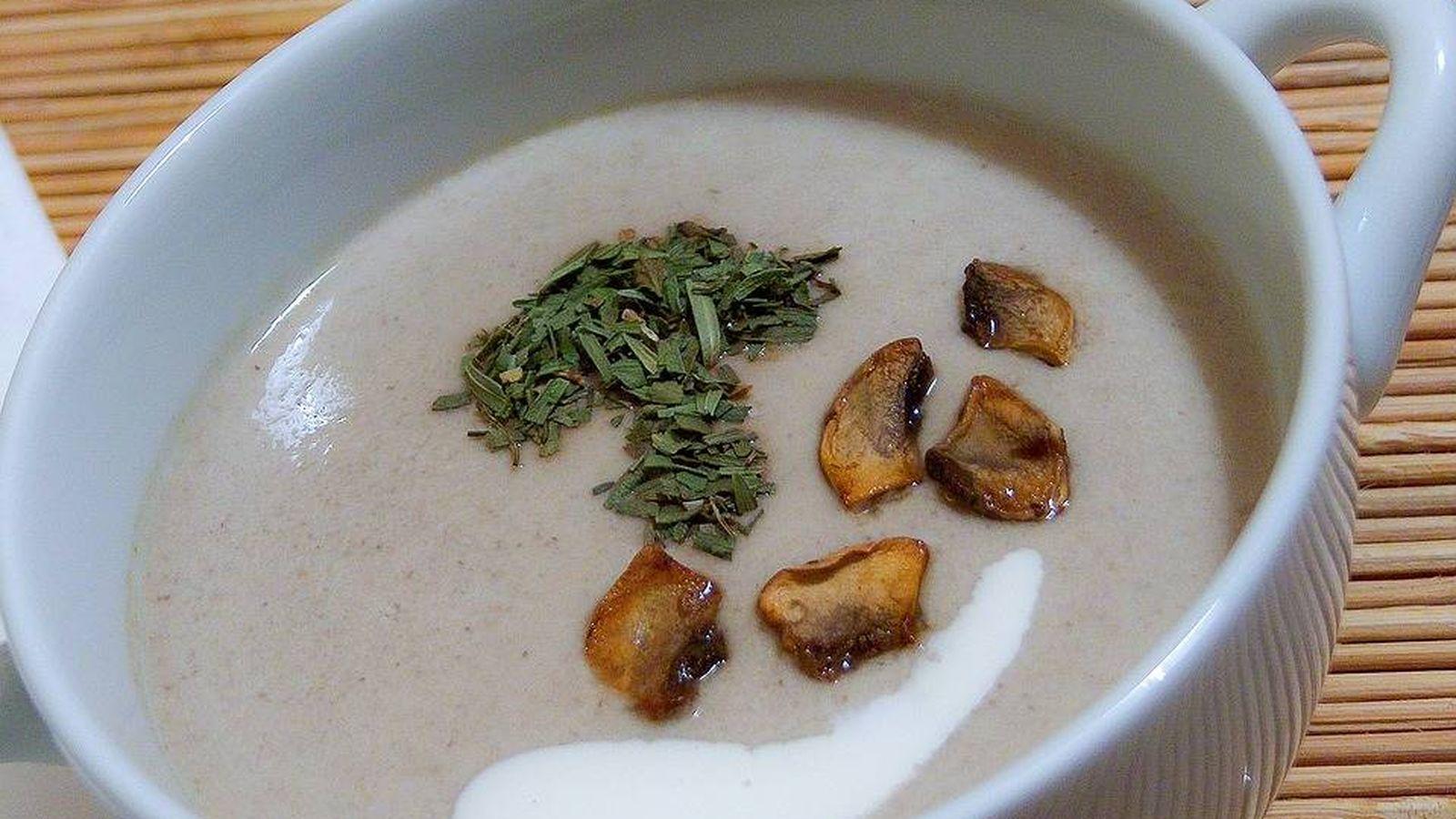 Foto: Sopa de champiñones.