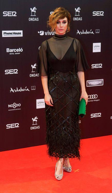 Blanca Suárez en el photocall de la entrega de los Premios Ondas 2017. (EFE)