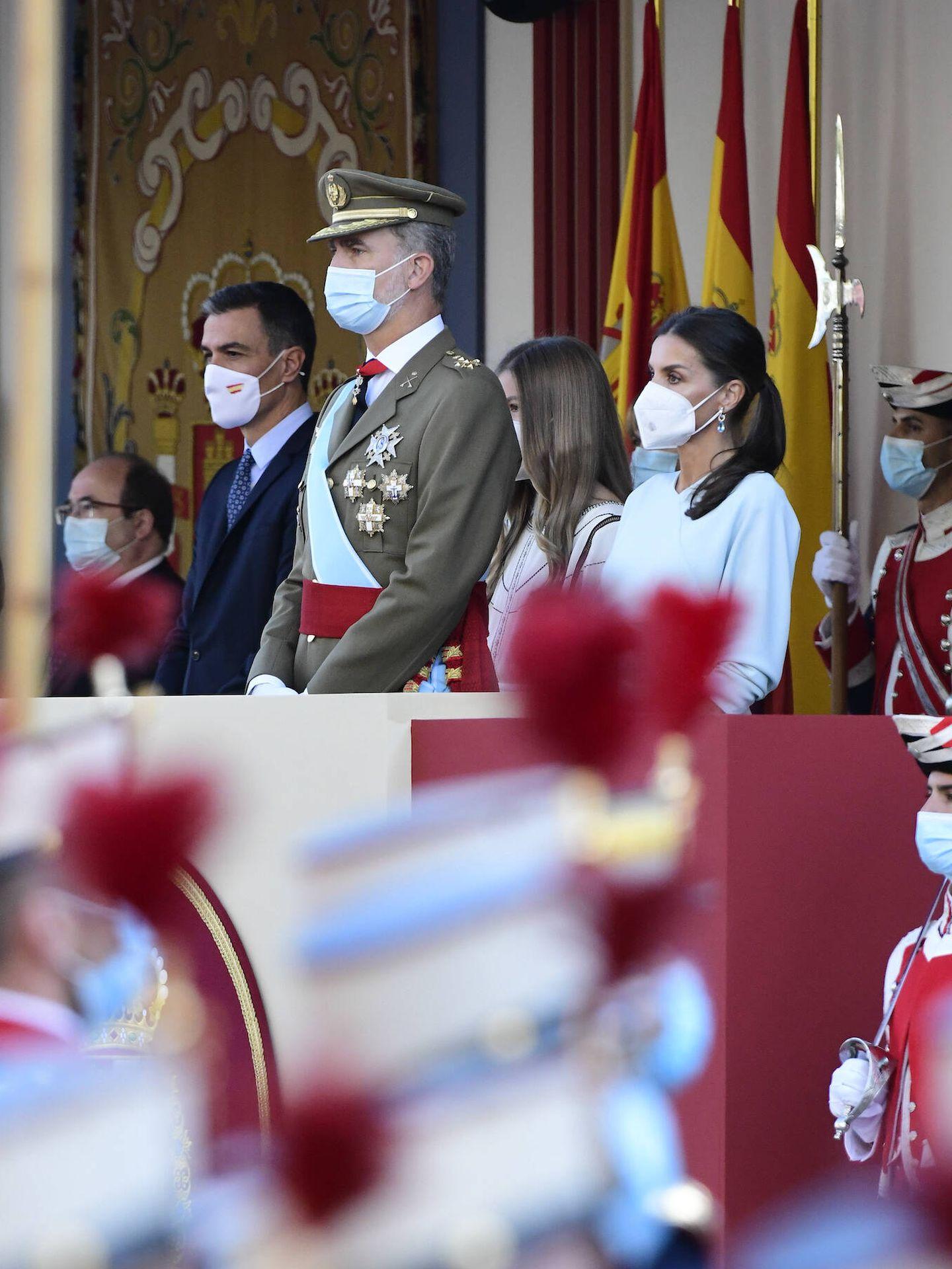 Los Reyes y la infanta Sofía en la tribuna. (Limited Pictures)